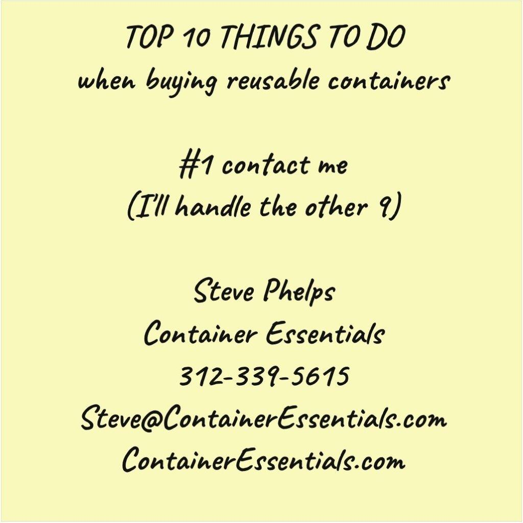 Top 10 things to do when buying reusable containers