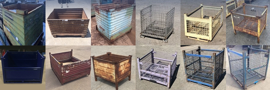 Used Metal Bins and Wire Baskets in Stock