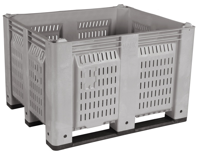 MACX® Vented Container with Long Side Runners