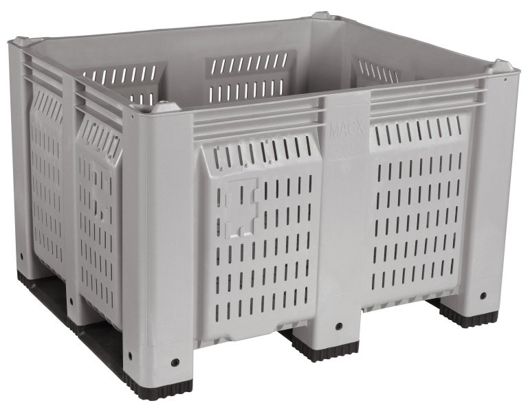 MACX® Vented Container with Short Side Runners