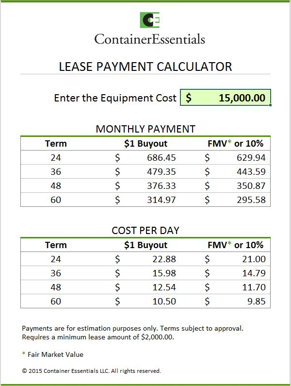 Leasing Calculator